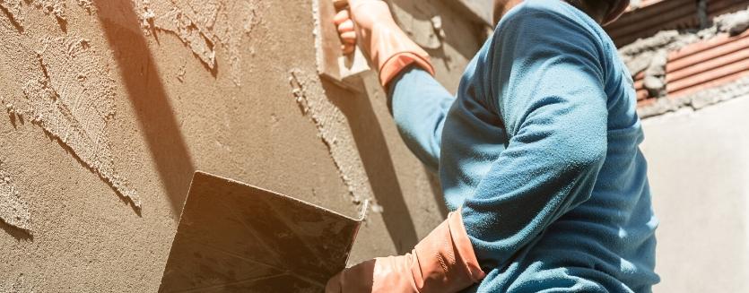 external wall plastering